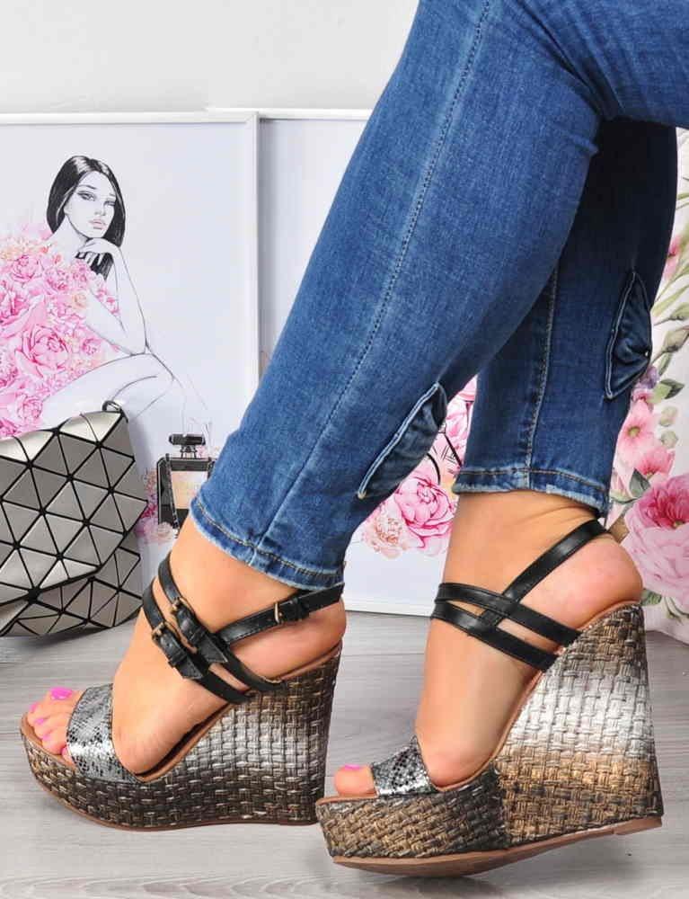 sandały damskie na koturnie
